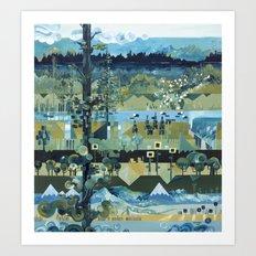 Landscaping Art Print