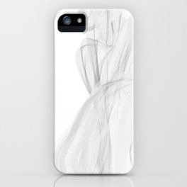 Koch Curve abstraction 02 iPhone Case
