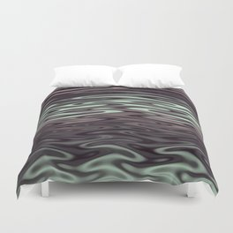Ripples Fractal in Mint Hot Chocolate Duvet Cover