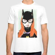 Batgirl White MEDIUM Mens Fitted Tee