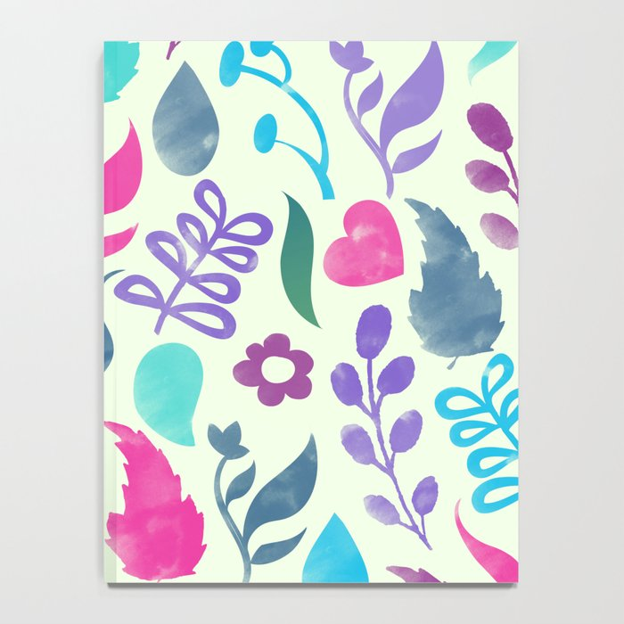 Watercolor Floral Pattern III Notebook