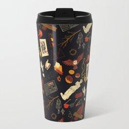 """Twin Peaks"" Pattern Design Travel Mug"