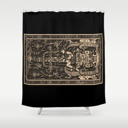 Sala Tumba de Pakal Shower Curtain