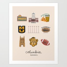 Columbia, Missouri Art Print