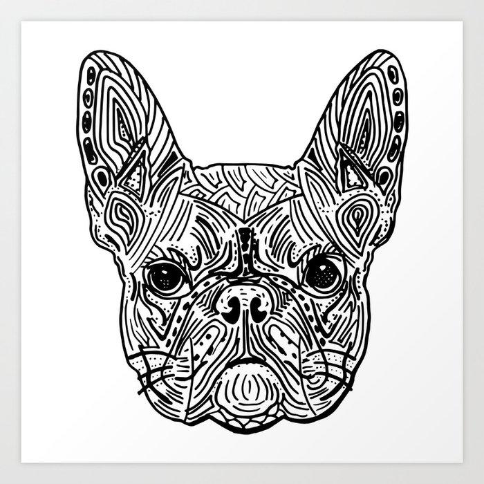French Bulldog Mandala Art Print By Kargarvi Society6