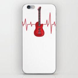 Bass Guitar, Bass Player Heartbeat iPhone Skin