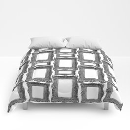 Antique Frame black and white #1 Comforters