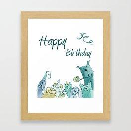 Dog Birthday Framed Art Print