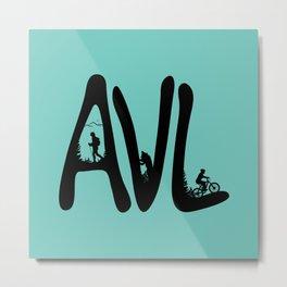 Asheville - AVL 12 Mintgreen Metal Print