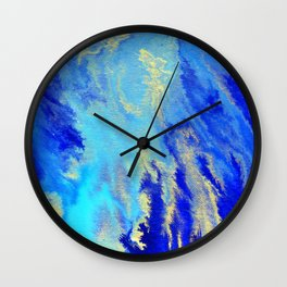 Gold & blue abstract 1710009 Wall Clock