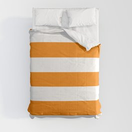 University of Tennessee Orange - solid color - white stripes pattern Comforters
