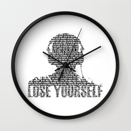 Lose Yourself - Text Art Wall Clock