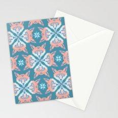 Pastel Fox Pattern Stationery Cards