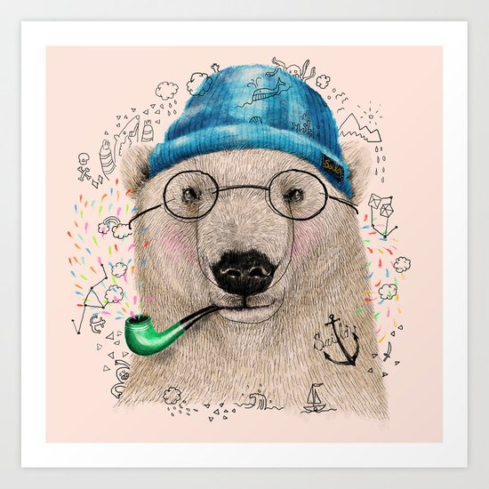 Polar Sailor Art Print
