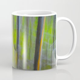 Forest Impression an in Camera Altered Image from Yellowstone Coffee Mug