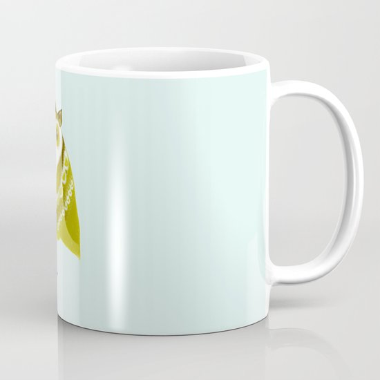 Golden Owl illustration  Mug