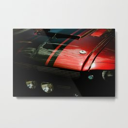 Black and Red Metal Print