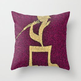 A singer on my doormat Throw Pillow