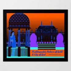 Prabhupada's Palace of Gold and City of God Art Print