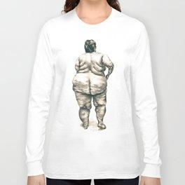 mujer en la ducha Long Sleeve T-shirt