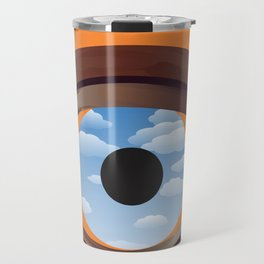 magritte's eye Travel Mug