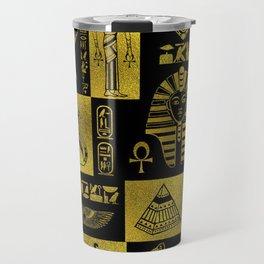 Ancient Egyptian Sphinx Anubis Hieroglyph Travel Mug
