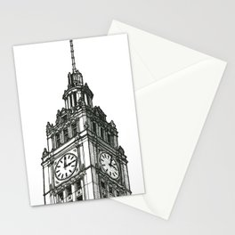 Triptych 1 - Wrigley Building - Original Drawing Stationery Cards