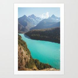 Brilliant Blue Diablo Lake Art Print