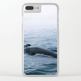 Humpback whale in the minimalist fog - photographing animals Clear iPhone Case