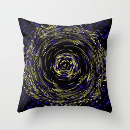 Hurricane ..Team colors blue /yellow Throw Pillow