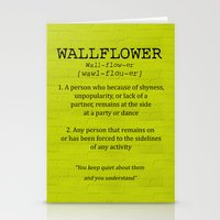 the perks of being a wallflower Stationery Cards featuring Wallflower by the perks of being a wallflower