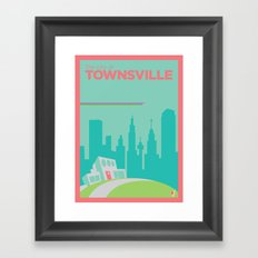 Welcome to Townsville Framed Art Print