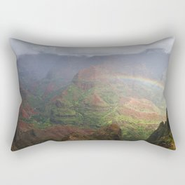 Waimea Canyon Rainbow Rectangular Pillow