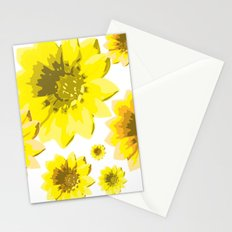 Retro Sunflowers Stationery Cards