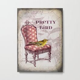 Pretty Bird Metal Print