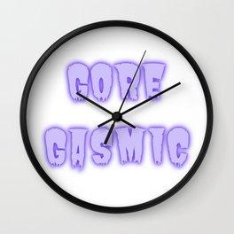 Gore Gasmic Violet  Wall Clock