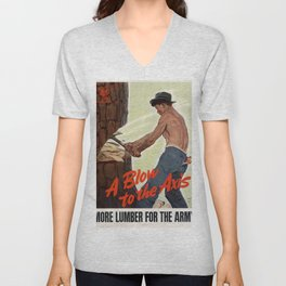 A Blow to the Axis Unisex V-Neck