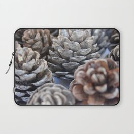 Autumn Pinecones In Greys and Browns Laptop Sleeve