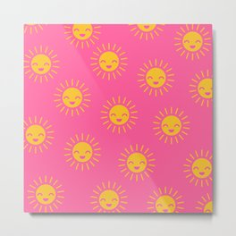 Litlle Sunshine (pink 2) Metal Print