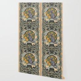 Cat Nouveau Wallpaper