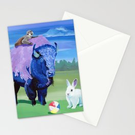 Beach Ball Bison Stationery Cards