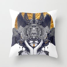 Black Feathers Throw Pillow