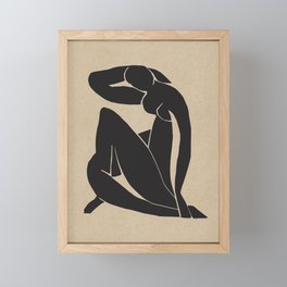 Matisse Blue nude black, Henri matisse print, Matisse cut out, Mid century modern, Nude abstract art, Minimalist modern, Above bed decor,  Framed Mini Art Print