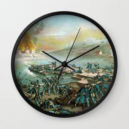 The Battle of Fredericksburg - Civil War Wall Clock