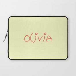 first Name  7 Olivia Laptop Sleeve