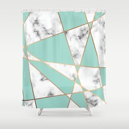 Marble Geometry 055 Shower Curtain