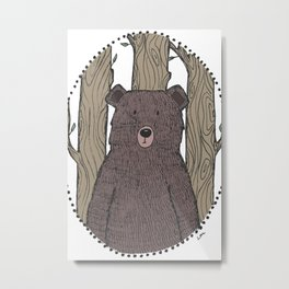 Portrait of a Bear Metal Print