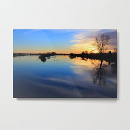 Floodplain at Sunset 1 Metal Print