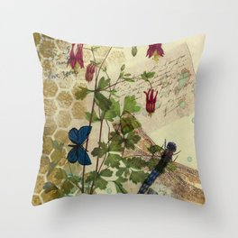 Columbine Love Letters 2 Throw Pillow