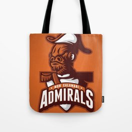 Mon Calamari Admirals on Orange Tote Bag